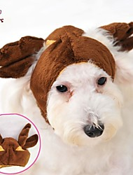 Недорогие -Кошка Собака Костюмы Инвентарь Платки и шапочки Одежда для собак Косплей Свадьба Хэллоуин Коричневый Костюм Для домашних животных