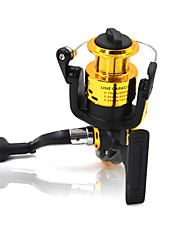 3000 Size 5.2:1 5 Ball Bearings Freshwater Fishing Carp Fishing Spinning Reels Left and Right Handle Random Color