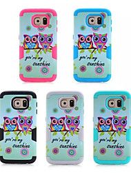 cheap -Case For Samsung Galaxy Samsung Galaxy Case Shockproof Back Cover Owl PC for S6 edge / S6 / S5