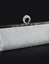 Women Bags Polyester Evening Bag Crystal/ Rhinestone for Wedding Event/Party Gold Black Silver