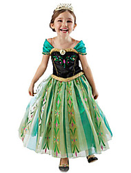 Princess Fairytale Cosplay Costumes Party Costume Kid Halloween Christmas Children's Day Festival/Holiday Halloween Costumes Green