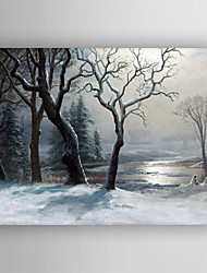 cheap -Oil Painting  Impression Landscape  Hand Painted Canvas with Stretched Framed Ready to Hang