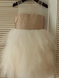 Vestido de vestido de menina com vestido de bola com vestido de bola - colher de lã com lantejoulas de tul por thstylee
