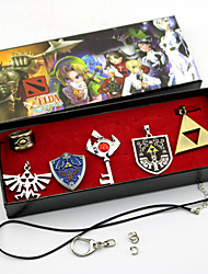cheap -Jewelry Inspired by The Legend of Zelda Cosplay Anime/ Video Games Cosplay Accessories Necklaces Brooch Alloy Men's Women's