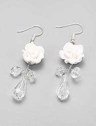 Недорогие -Белый Белый Кристалл - Цветы регулярное, Классика Белый Назначение Для вечеринок