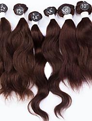 Недорогие -Индийские волосы Естественные волны Натуральные волосы Человека ткет Волосы Ткет человеческих волос Расширения человеческих волос