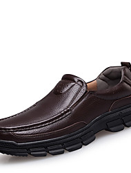 cheap -Men's Shoes Leather Spring / Fall Comfort Loafers & Slip-Ons Black / Brown / Leather Shoes / Dress Loafers