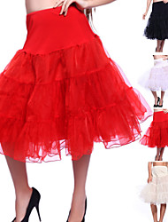 cheap -Wedding Special Occasion Party / Evening Daily Slips Organza Tulle Knee-Length A-Line Slip Classic & Timeless with