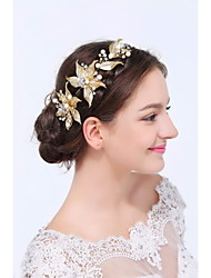 cheap -Gold Alloy Headbands 1 Wedding Special Occasion Casual Headpiece