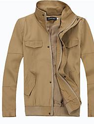 preiswerte -Solide Normal Standard Jacke Polyester