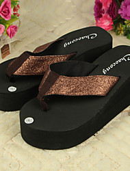 Women's Shoes PVC Flat Heel Flip Flops Slippers Outdoor Blue / Pink / Khaki
