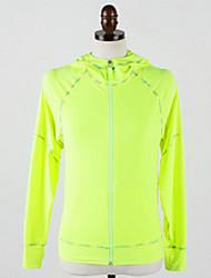 economico -Per donna Giaccia da corsa Manica lunga Permeabile all'umidità Materiali leggeri Giacca di pelle Top per Yoga Campeggio e hiking Esercizi