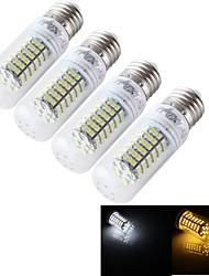 E14 E26/E27 Lâmpadas Espiga T 120 leds SMD 3528 Decorativa Branco Quente Branco Frio 1000lm 3000/6000K AC 85-265 30/9V