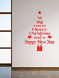 cheap -Wall Stickers Wall Decals Style Blessing Language Christmas Tree PVC Wall Stickers