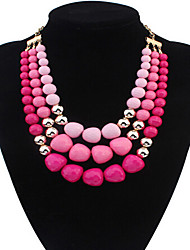 cheap -Women's Irregular Beaded European Statement Necklace Alloy Statement Necklace ,