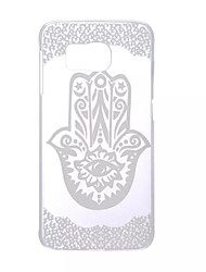 cheap -Case For Samsung Galaxy Samsung Galaxy Case Transparent Back Cover Lace Printing PC for S6 edge / S6 / S5 Mini