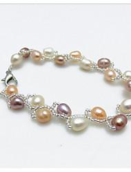 cheap -Ruili Natural Freshwater Pearl Bracelet Classical Feminine Style