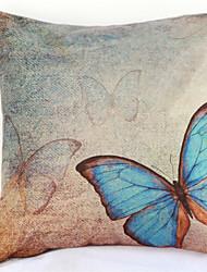 Недорогие -синяя бабочка наволочка диван домашний декор подушка покрытие