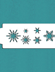 Snowflake Cake and Cookie Stencil, Xmas Celebration Design Stencils, Fondant Cake Decorating Tools,ST-543
