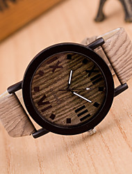 cheap -Women's Fashion Watch Wood Watch Quartz Leather Band Vintage Brown Khaki