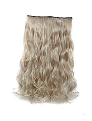 cheap -24 Inch 120g Long Curly Blonde 5 Clip In Hair Extensions Heat Resistant Synthetic Fiber