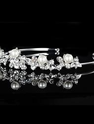 abordables -Imitation de perle Strass Tiare Serre-tête Casque