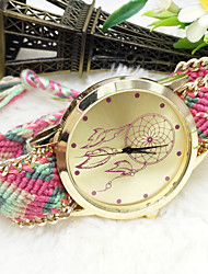 cheap -Bohemia Women Big Circle Dial National Hand Knitting Brand Luxury Lady Fashion Hand-Woven Watch (Assorted Colors) Cool Watches Unique Watches