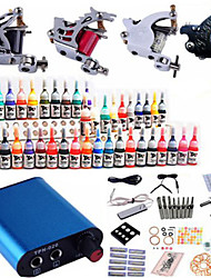 billige -Tattoo Machine Professionel Tattoo Kit - 4 pcs Tattoo Maskiner, Professionel Mini strømforsyning No case 4 x stål tatoveringsmaskine til optegning og skygge