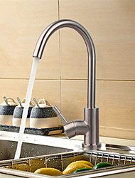 PHASAT® Deck Mounted Single Handle One Hole with Nickel Brushed Kitchen faucet