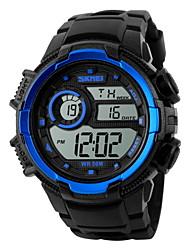 baratos -SKMEI Homens Relógio Esportivo / Relógio de Pulso Alarme / Calendário / Cronógrafo Borracha Banda Amuleto Preta / Impermeável / LCD