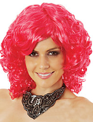 cheap -Synthetic Wig Curly Asymmetrical Haircut Synthetic Hair Natural Hairline Red Wig Women's Short Capless