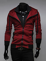 cheap -Men's Sports Active Long Sleeves Slim Hoodie Jacket - Solid Colored Hooded