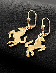cheap -InStyle 18K Chunky Gold Plated Heats Dangle Drop Rhinestone Earrings High Quality