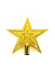 """5Pcs / Set 20cm / 8 """"pour arbres de Noël décorations extérieures étoile dorée nouvelle année fournitures de décoration de fête Pendentif"""