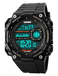cheap -SKMEI Men's Sport Watch / Wrist Watch / Digital Watch Alarm / Calendar / date / day / Chronograph Rubber Band Black / Water Resistant / Water Proof / LCD