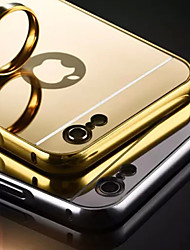cheap -Case For Apple iPhone 5 Case iPhone 6 iPhone 6 Plus iPhone 7 Plus iPhone 7 Plating Mirror Back Cover Solid Color Hard Acrylic for iPhone