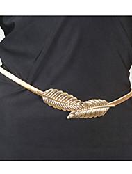 Dame Kropssmykker Krops Kæde / mavekæde Legering Unikt design Mode Bladformet Smykker Skærmfarve Smykker Afslappet 1 Stk.