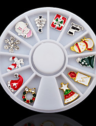 cheap -3D Alloy Christmas Design Nail Art Decoration Wheel Glitter Rhinestone