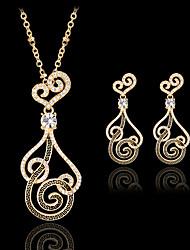 abordables -Mujer Bonito Conjunto de joyas Pendientes / Collare - Vintage / Fiesta / Trabajo Dorado Juego de Joyas Para Fiesta / Ocasión especial /