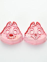 søde tegneserie dyr 3d chipmunks cookie cutters og frimærker høj kvalitet