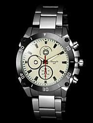 cheap -Men's Quartz Wrist Watch Hot Sale Alloy Band Charm Silver