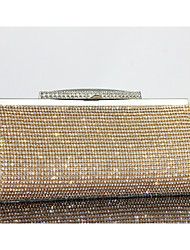 cheap -Women's Bags Other Leather Type Evening Bag Crystal Detailing for Event/Party Summer Gold Black Silver