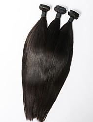 Недорогие -3шт / набор хороших дешевых необработанные сырьевые индийские девственные волосы прямые натуральный черный 100г / шт человеческих волос
