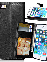 cheap -Luxury PU Leather Wallet Flip With Card Slot Photo Frame Stand Cover For iPhone 5/5S