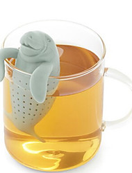 cheap -Love Cartoon Card Manatee Tea Maker
