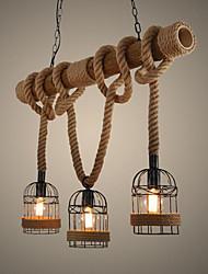 Недорогие -Ретро Подвесные лампы Потолочный светильник - Мини, 110-120Вольт 220-240Вольт, Теплый белый, Лампочки не включены