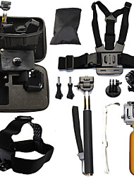 Telescopic Pole Chest Harness Front Mounting Case/Bags Straps Mount / Holder Waterproof Floating For Action Camera Gopro 6 All Gopro