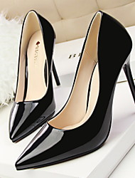 cheap -Women's Shoes Leatherette Spring Summer Stiletto Heel for Dress Black Red Green Nude Burgundy