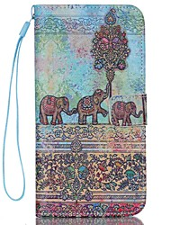 cheap -Case For Apple iPhone 6 Card Holder Wallet with Stand Flip Pattern Full Body Cases Elephant Hard PU Leather for iPhone 7 Plus iPhone 7