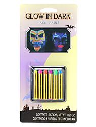 Недорогие -6 цветов Хэллоуин лицо краски макияж набор